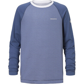 Craghoppers NosiLife Barnaby Longsleeve Tee Kids Soft Denim Stripe